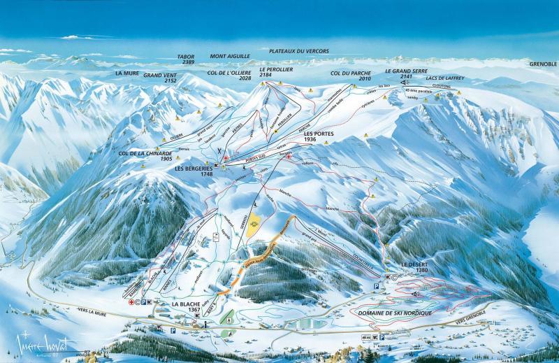 Plan des pistes Alpe du Grand-Serre