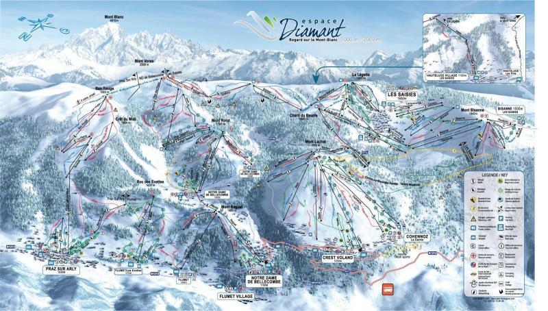 Plan des pistes Crest-Voland Cohennoz