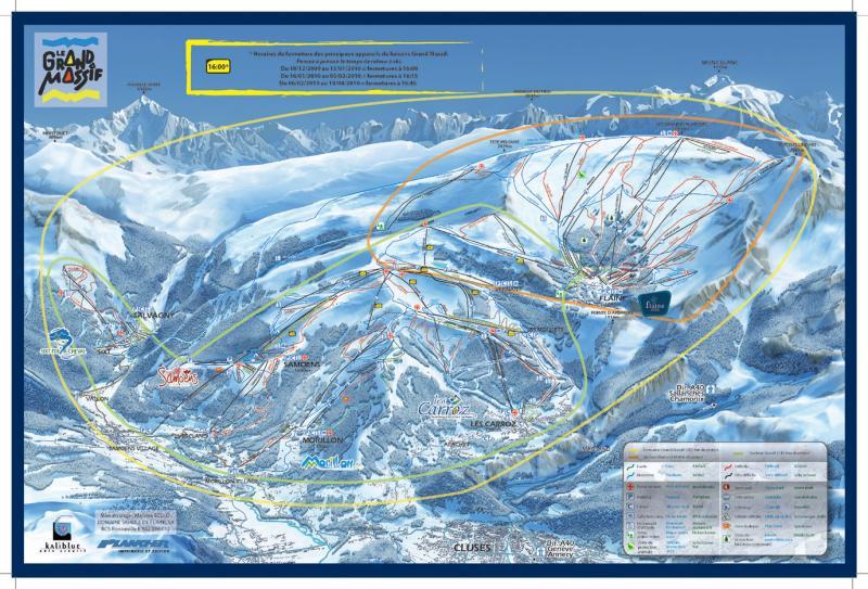 Plan des pistes Flaine