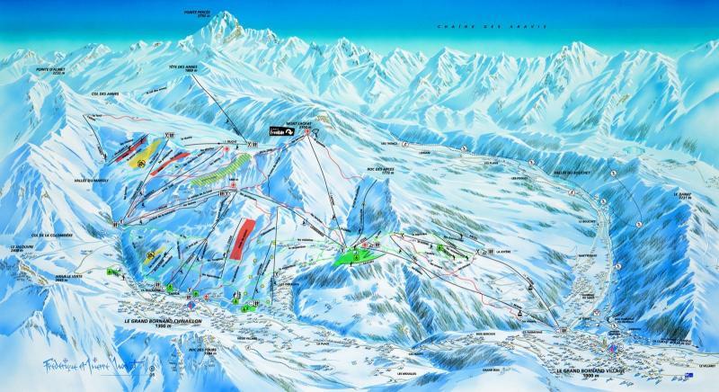Plan des pistes Le Grand-Bornand