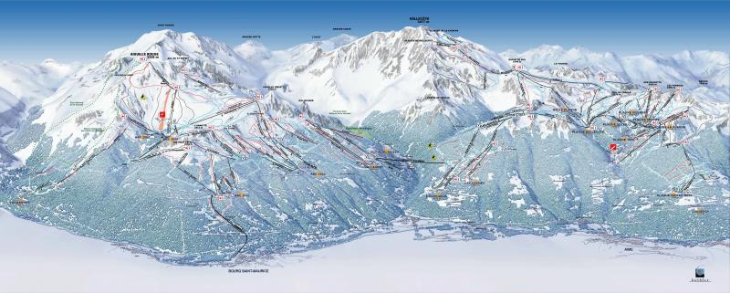 Plan des pistes Les Arcs Bourg St Maurice