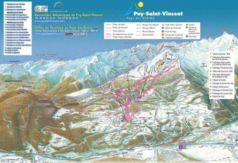 Plan des pistes Puy St Vincent