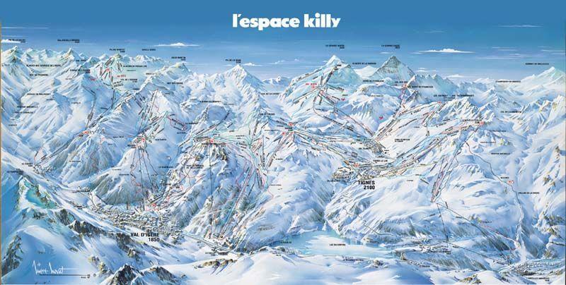 Plan des pistes Val d'Isere