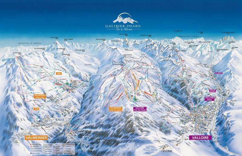 Plan des pistes Valmeinier