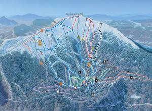 Plan des pistes Aillons-Margeriaz