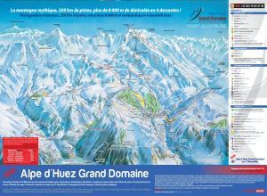 Plan des pistes Alpe d'Huez