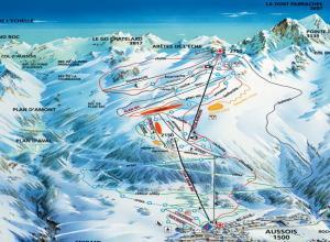 Plan des pistes Aussois