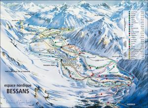 Plan des pistes Bessans Val D'arc