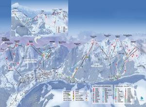 Plan des pistes Chatel