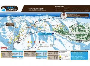 Plan des pistes Domaine du Grand Tourmalet