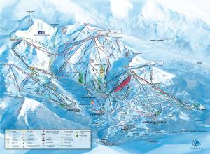 Plan des pistes La Tania