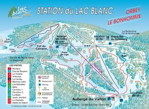 Plan des pistes Le Lac Blanc