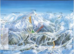 Plan des pistes Le Lioran