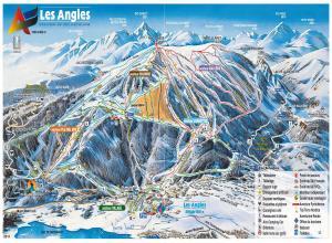 Plan des pistes Les Angles