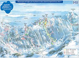 Plan des pistes Monts Jura