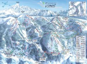 Plan des pistes Praz sur Arly