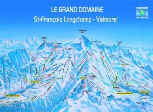 Plan des pistes Saint Francois Longchamp