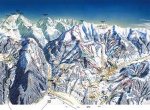Plan des pistes Saint Gervais Mont-blanc