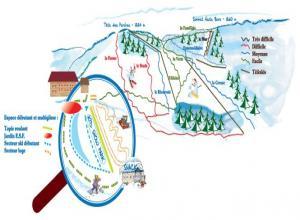 Plan des pistes Saint Maurice sur Moselle