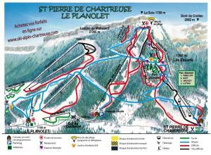 Plan des pistes Saint Pierre de Chartreuse/Le Planolet