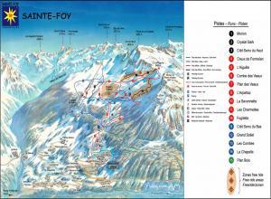 Plan des pistes Sainte Foy Tarentaise