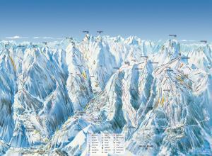 Plan des pistes Val d'Allos - La Foux