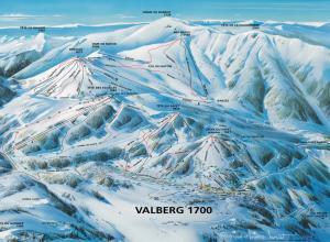 Plan des pistes Valberg