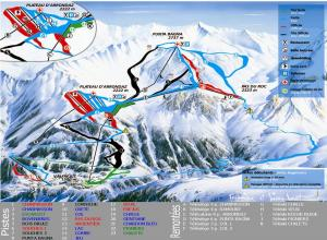 Plan des pistes Valfréjus
