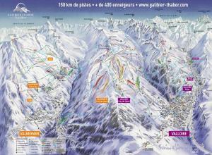 Plan des pistes Valloire