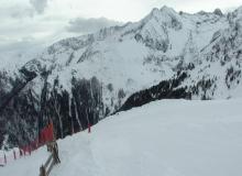 Webcam Vue de la piste bleue du sommet du Picou  le 03-02-2016 à 13:00