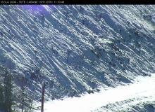 Webcam Isola 2000 Arrivée télésiège Valette