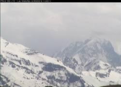 Webcam Praz de Lys Sommand Aiguille Verte et les Drus